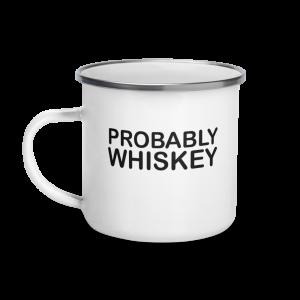 """Эмалированная Кружка """"Вероятно Виски"""""""